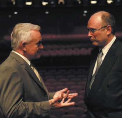 Prime Minister of Poland Mr. L. Miller and A. Szpilman at the Kodak Theater